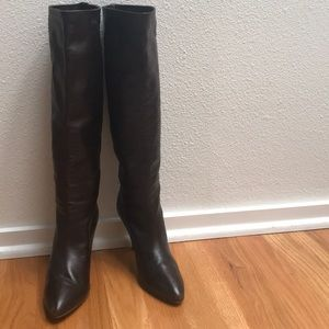 Anne Klein brown high boots, made in Italy, s.71/2